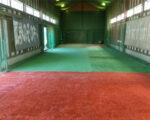 岩倉高校室内練習場 人工芝設置工事